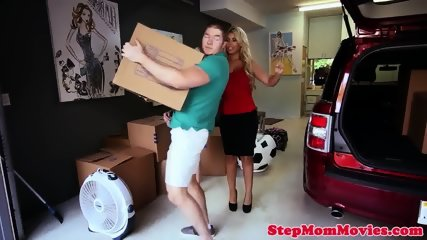 Busty latina stepmom cockriding teens bf