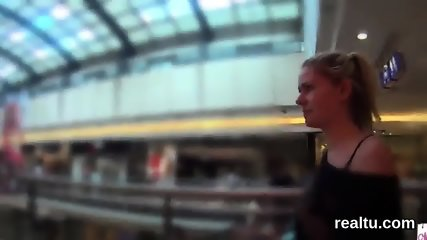 Flawless czech teen was teased in the mall and pounded in pov