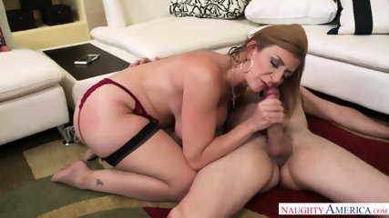 Busty Cougar Rides Dick