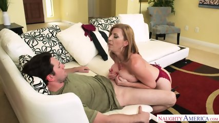 Busty Cougar Rides Dick - scene 5