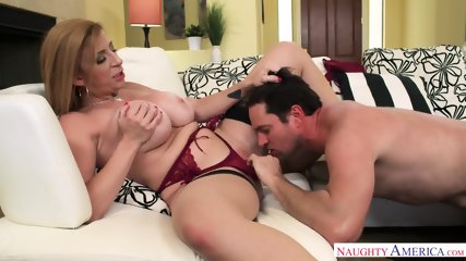 Busty Cougar Rides Dick - scene 6