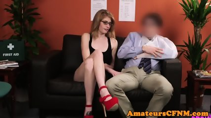 Spex british babe jerking and blowing dick