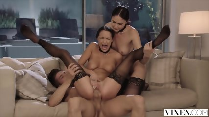 VIXEN Ariana Marie And Her Friend Are Dominated By Huge Cock - scene 9