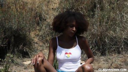 Ebony Teen Takes Off Clothes - scene 3