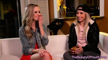 Petite lesbian teens fingering each other