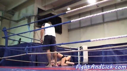 Smalltits european babe wrestles a dyke