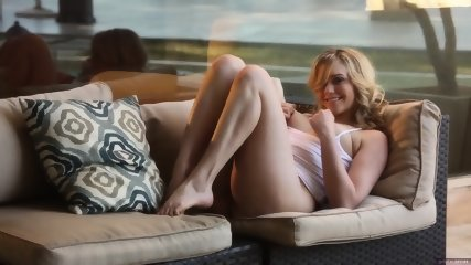 Glam Babe On Sofa - scene 5