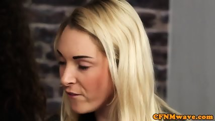 CFNM babes humiliate gagged sub