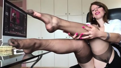 Short Clip From Hot German Nylon Mistress Anett Larmann - scene 8