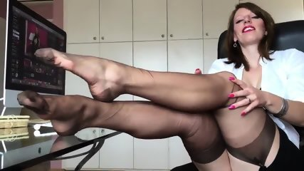 Short Clip From Hot German Nylon Mistress Anett Larmann - scene 9