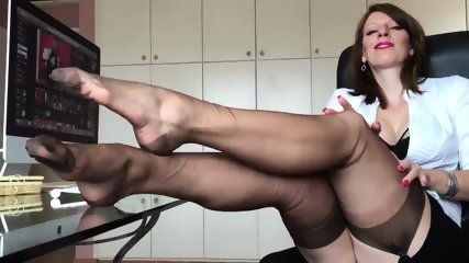 Short Clip From Hot German Nylon Mistress Anett Larmann - scene 10