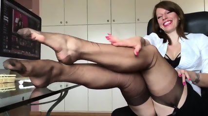 Short Clip From Hot German Nylon Mistress Anett Larmann - scene 11
