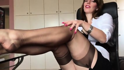 Short Clip From Hot German Nylon Mistress Anett Larmann - scene 2