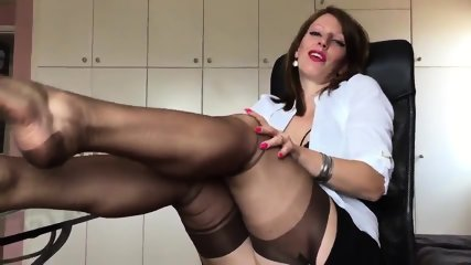 Short Clip From Hot German Nylon Mistress Anett Larmann - scene 4