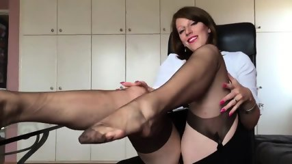 Short Clip From Hot German Nylon Mistress Anett Larmann - scene 5