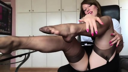 Short Clip From Hot German Nylon Mistress Anett Larmann - scene 6