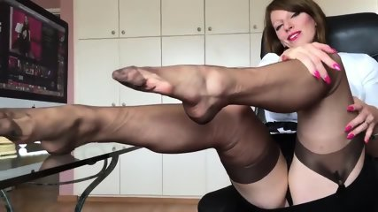 Short Clip From Hot German Nylon Mistress Anett Larmann - scene 7
