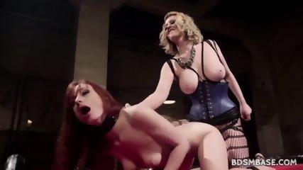 Cherry Torn Strapon Fucks Violet Monroe - scene 10