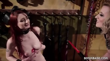 Cherry Torn Strapon Fucks Violet Monroe - scene 1