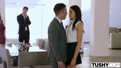 TUSHY Assistant Gets DP D By Boss And Friend - scene 3