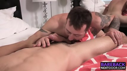 Horny boyfriends Mark Long and Trevor Jones doing bareback