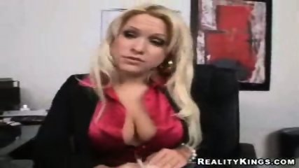 Big tit office babe analised by her boss - scene 2