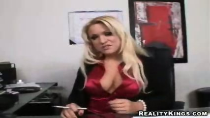 Big tit office babe analised by her boss - scene 3