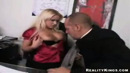 Big tit office babe analised by her boss