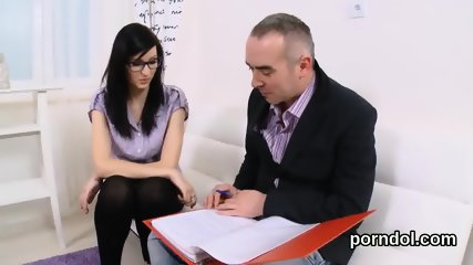 Sensual college girl gets tempted and nailed by her older teacher