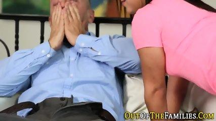 Stepdaughter sucks cock