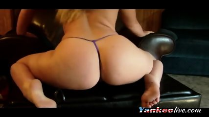 Enormous white ass on g-string