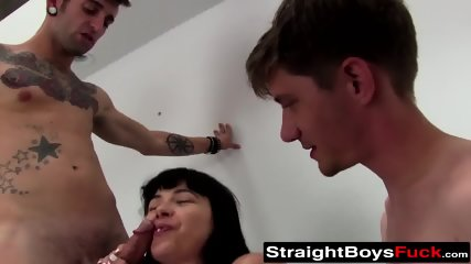 Cock loving amateur riding younger meat in three way