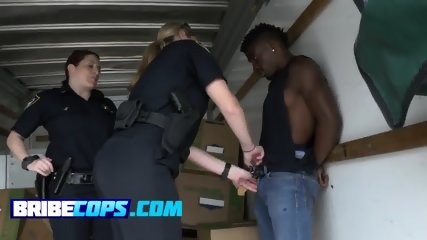 Horny cop duo arrest a gang member for being too sexy