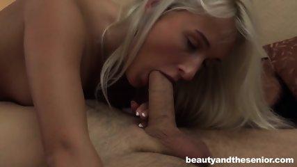 Cutie Takes Care Of Older Guy's Cock - scene 6