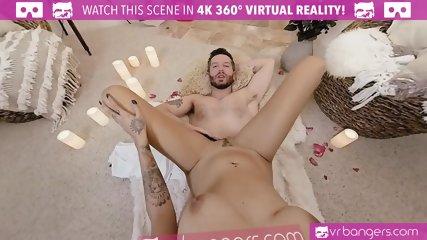 VR PORN - Hot ebony fucked hard on valentines day Guy POV