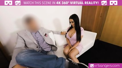 VR PORN - Busty Patty Michova Casting couch get wild