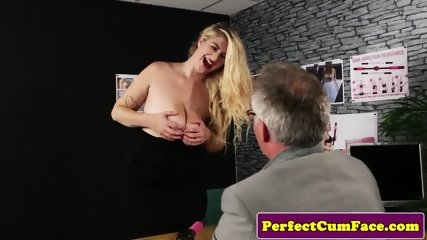 UK babe sucking cock until facialized