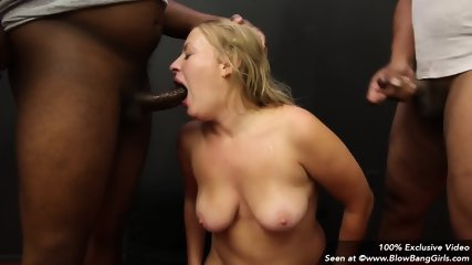 Blonde Blows Cocks And Receives Facials - scene 4