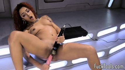 Latina redhead toying her pussy until orgasm