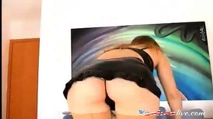 4 months pregnant blonde on livecam - scene 11