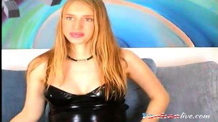 4 months pregnant blonde on livecam - scene 2