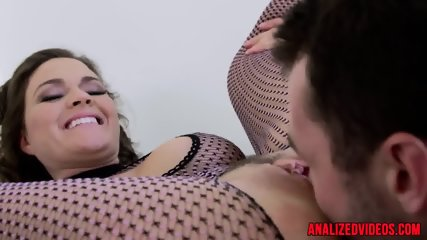Busty babe anally fisted before riding cock