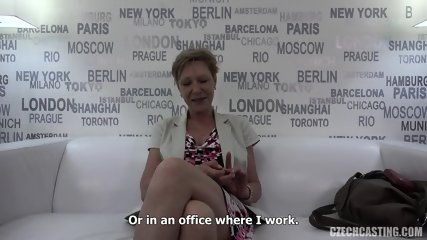 Mature Amateur Banged At Casting - scene 4