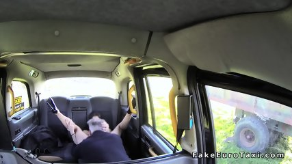Brunette anal fingers fake taxi driver