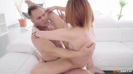 Redhead Filled With Fat Cock - scene 10