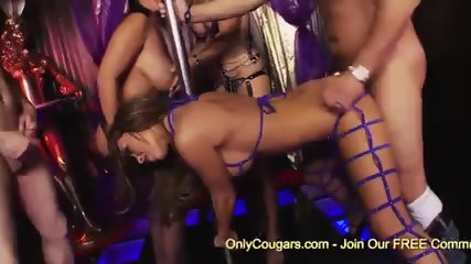 Busty Milf Jasmine Black and GF shares two cocks