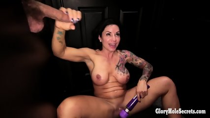Dirty Whore Sucks Cocks And Play With Herself