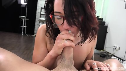 Amateur Girl With Glasses Banged At Casting