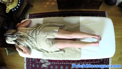 Wonderful babe gets pounded by masseur