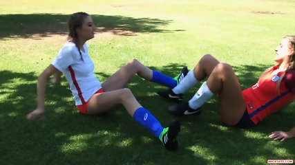 Threesome Sex With Hot Footballers - scene 1